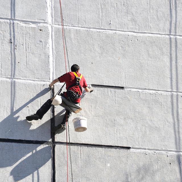 pintura en trabajos verticales